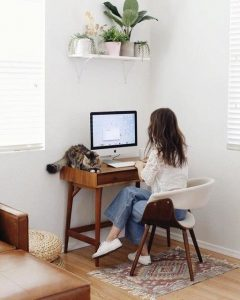 Home Office Ideas With Wall Hanging Decoration